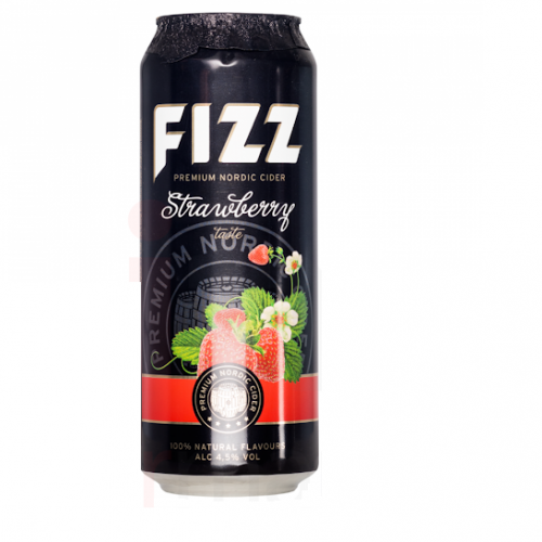 Cider Fizz strawberry 4,5%. 500ml