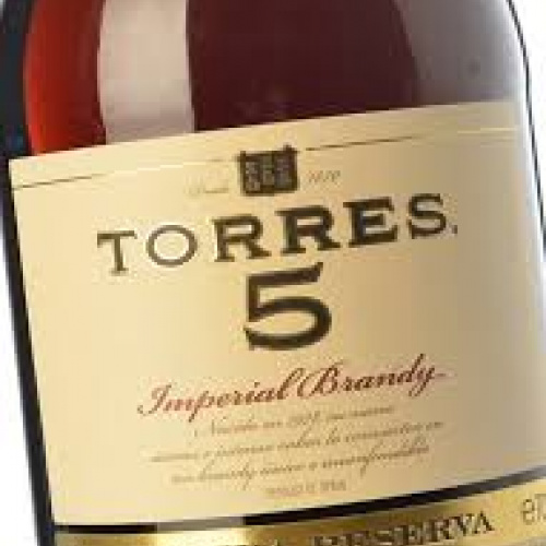 Brandy Torres 5, 700ml. bottle