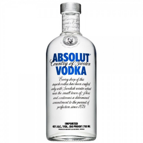 """Absolut"" vodka 500ml."