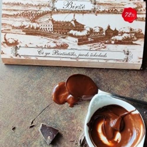 Rankų darbo šokolado plytelė 72%  Biržė