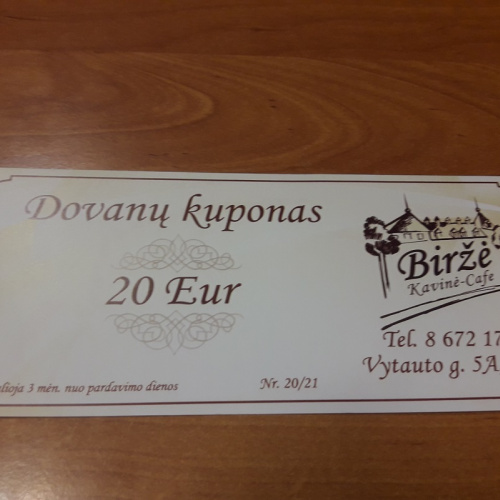 Gift Card 20e (valid only with a sales receipt)