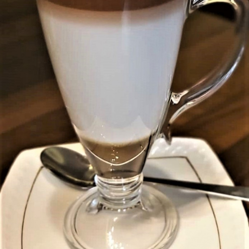 Coffee latte  with syrup