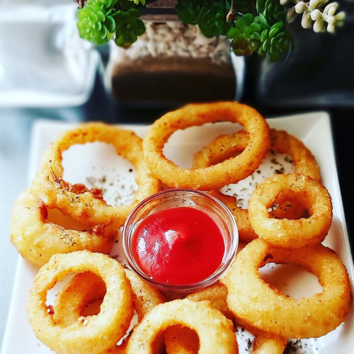 Roasted onion rings