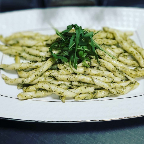 Pasta Bella Italia Busiati Trapanesi with pesto sauce